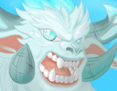 Ice Monster Character Design