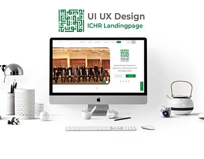 ICHR Landingpage design [ UI/UX ]