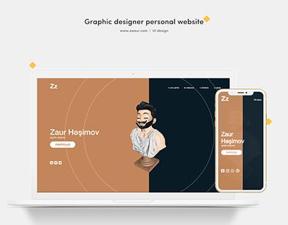 Graphic designer personal website