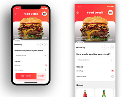Kitchen World App Design