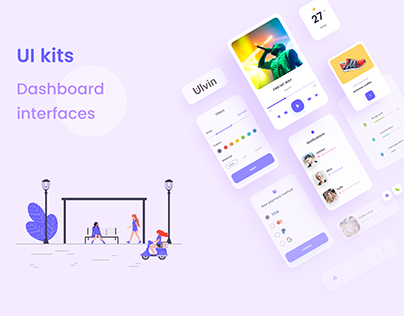 UI kits for Dashboard, Web and App