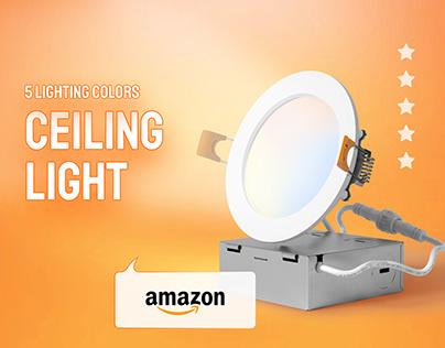 AMAZON EBC | A+ CONTENT DESIGN | CEILING LIGHTS