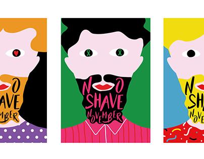 No Shave November Poster Series