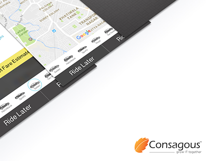 Tap2Cab UI Design