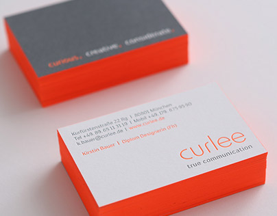 Visitenkarten/ Briefpapier  curlee true communication