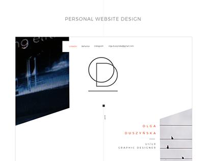 Web Design | Personal website design
