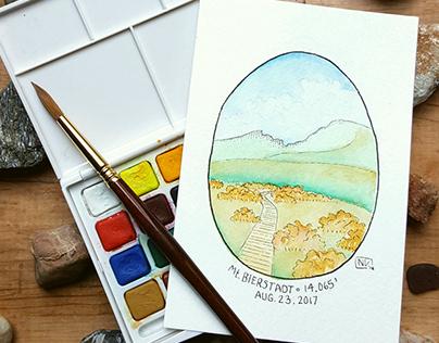 Miniature Watercolor Paintings