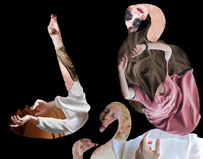 """""""Clann Lir/Children of Lir"""", digital collage"""