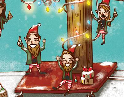 Cartel y etiqueta Navidad 2016 Beer Boutique