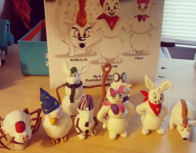 Snow Bunnies Toy Prototypes