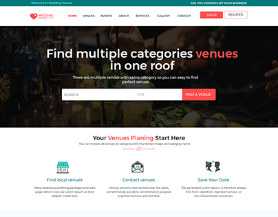 Booking Venu Event website