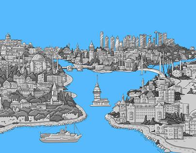 Muslum Animation Istanbul Background