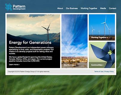 Pattern Energy: Web design & direction