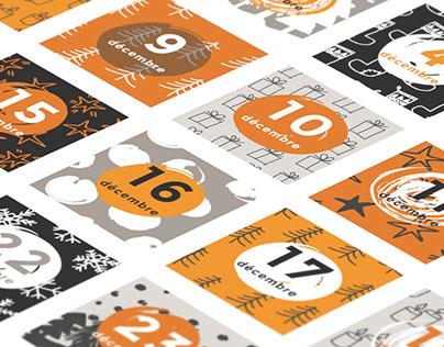 Advent calendar illustrations