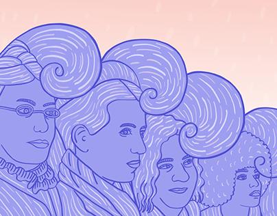 Las olas del feminismo // infographic