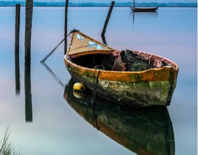 Boats and sunrise