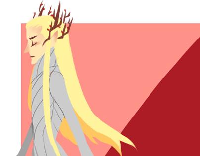 Random Drawings of Elves in The Hobbit