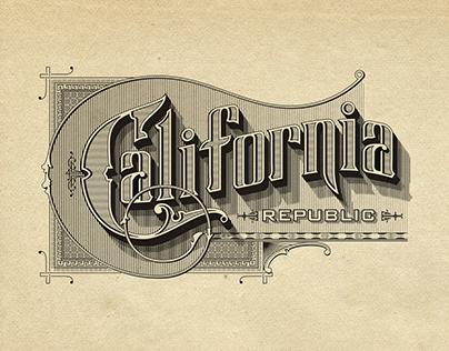 Vintage California Typography