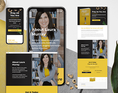 Landing Page for Author