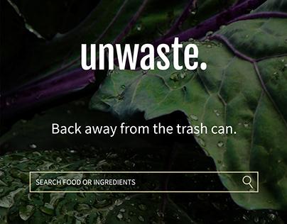 unwaste. (app concept)