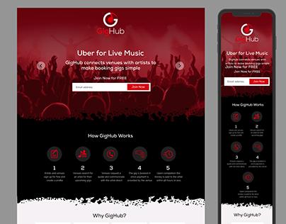 GigHub Web-Design