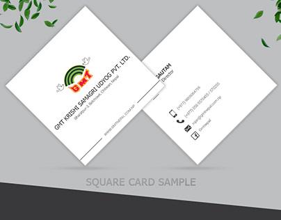 Square Visiting Card