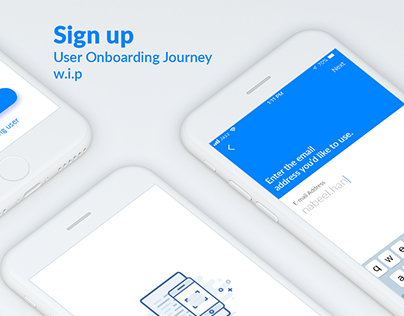 Sign up - User Onboarding Journey - UI/UX - w.i.p