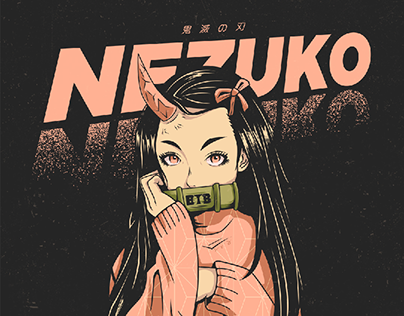 Demon Slayer 鬼滅の刃 Nezuko Illustration