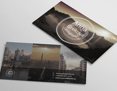 Business card for a photographer