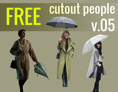 Free Cut Out People Vol. 05 - RAIN PACK
