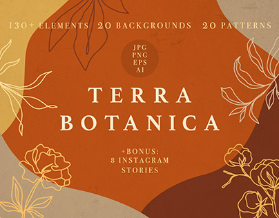 Terra Botanica - Modern Floral Abstract Collection