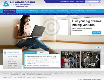 Allahabad Bank - Redesign