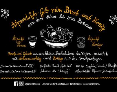 Handlettering blackboard for bakery
