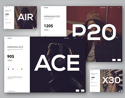 A headphones Brand based Web Design