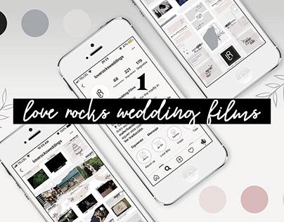 Love Rocks! Wedding Films - Instagram content