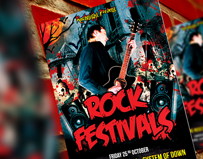 Rock Festivals Flyer Template