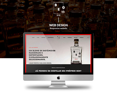 BEG Gin - Web Design