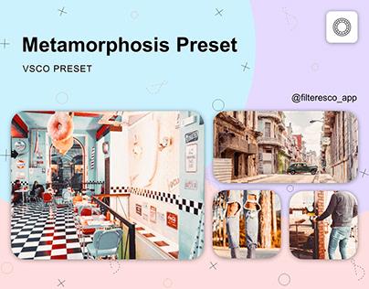 Metamorphosis - VSCO Preset - Filteresco app