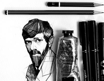 D H Lawrence Portrait