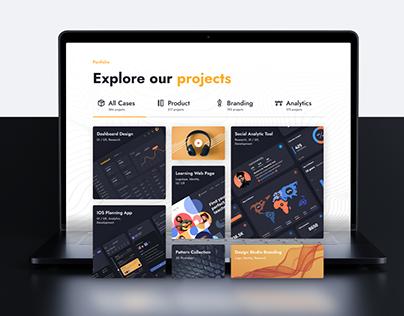 Creative Agency website UI/UX Design