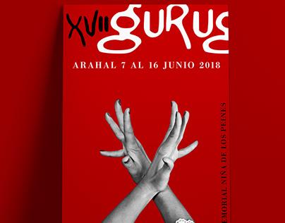 Diseño gráfica Festival Flamenco Al Gurugu Sevilla