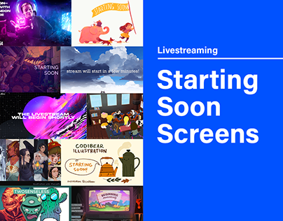 Livestreaming Starting Soon Screens