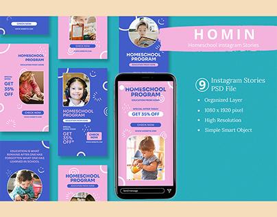 Homin - Homeschool Instagram Stories Template
