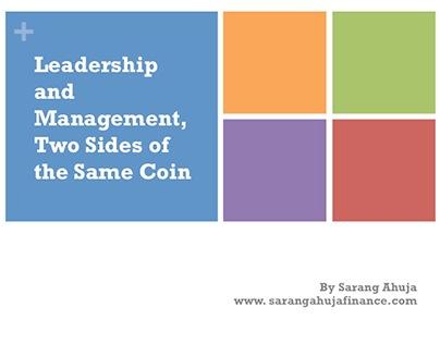 Leadership and Management by Sarang Ahuja