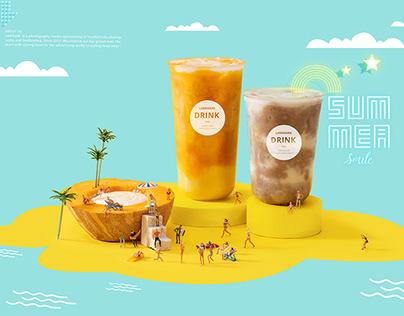 这个夏天有点黄 ~奶茶摄影 yellow summer drink tea
