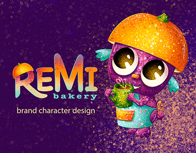 Brand character design for bakery: REMI