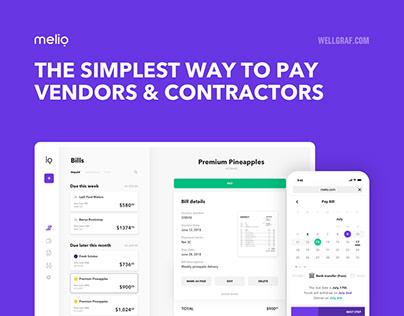 MELIO - B2B Payment Experience