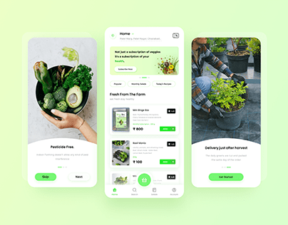 Herbs & Greens Delivery App UI