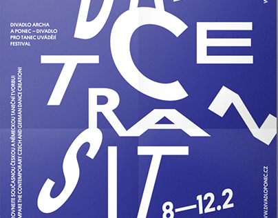 Poster for Archa theatre. DANCE TRANSIT