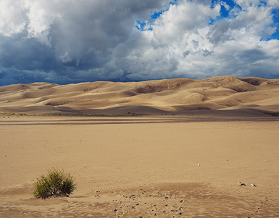 Walking on dunes
